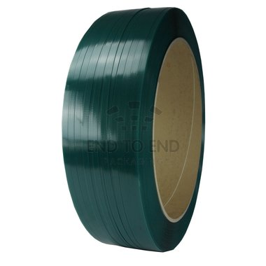 PET Omsnoeringsband 19 x 1.0 mm K406 1.000 mtr./rl groen