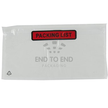 Paklijst Enveloppen 225 x 122 mm DL  PACKINGLIST 1.000/doos